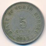 Северное Борнео, 5 центов (1903 г.)