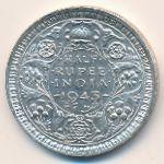 Британская Индия, 1/2 рупии (1943 г.)