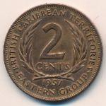 Восточные Карибы, 2 цента (1957 г.)
