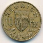Реюньон, 10 франков (1970 г.)