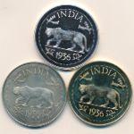 Индия, Набор монет (1936 г.)
