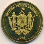North Borneo, 1 crown, 1936