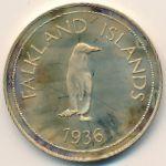 Фолклендские острова, 1 крона (1936 г.)