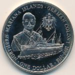 Mariana Islands, 1 dollar, 2004