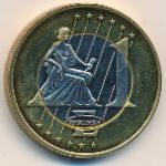 Испания, 1 евро (1997 г.)
