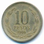 Чили, 10 песо (1981–1986 г.)