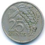Тринидад и Тобаго, 25 центов (1981 г.)
