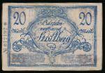 Штрасберг., 20 марок (1918 г.)