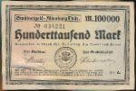Альтенбург., 100000 марок (1923 г.)