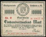 Хоххайм-ам-Майн., 100000 марок (1923 г.)