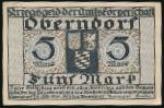 Оберндорф-ам-Неккар., 5 марок (1919 г.)