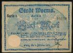 Вормс., 5 марок (1918 г.)