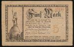 Детмольд., 5 марок (1918 г.)