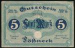 Пёснек., 5 марок (1919 г.)