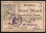 Триберг-им-Шварцвальд., 5 марок (1918 г.)