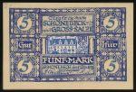 Шёнебек., 5 марок (1918 г.)