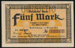 Кведлинбург., 5 марок (1918 г.)