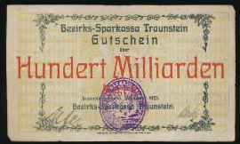 Траунштайн., 100000000000 марок (1923 г.)