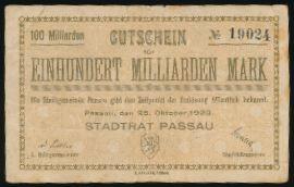 Пассау., 100000000000 марок (1923 г.)