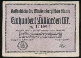 Штутгарт., 100000000000 марок (1923 г.)