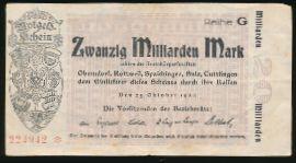Нотгельды Германии, 10000000000 марок (1923 г.)