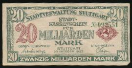Штутгарт., 10000000000 марок (1923 г.)