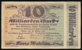 Вецлар., 10000000000 марок (1923 г.)