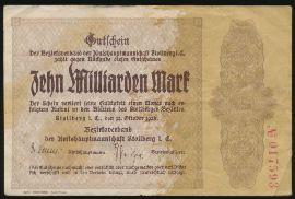 Штольберг., 10000000000 марок (1923 г.)