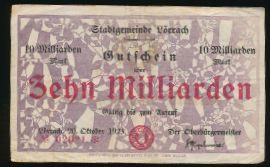 Лёррах., 10000000000 марок (1923 г.)