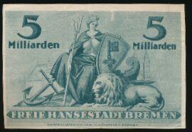 Бремен., 5000000000 марок (1923 г.)