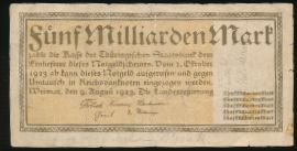 Веймар., 5000000000 марок (1923 г.)