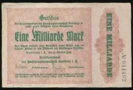Штольберг., 1000000000 марок (1923 г.)