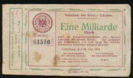 Эркеленц., 1000000000 марок (1923 г.)