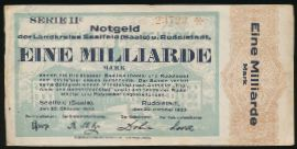 Рудольштадт., 1000000000 марок (1923 г.)