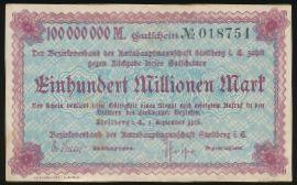 Штольберг., 100000000 марок (1923 г.)