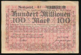 Циттау., 100000000 марок (1923 г.)