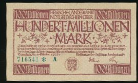 Дармштадт., 100000000 марок (1923 г.)