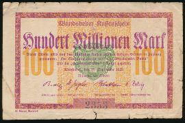Вандсбек., 100000000 марок (1923 г.)