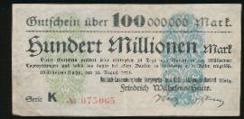 Мюльхайм-ан-дер-Рур., 100000000 марок (1923 г.)