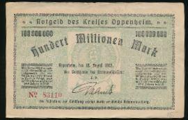 Оппенхайм., 100000000 марок (1923 г.)
