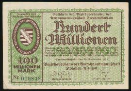 Дрезден., 100000000 марок (1923 г.)