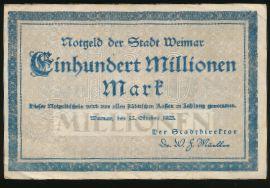 Веймар., 100000000 марок (1923 г.)