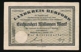 Херфорд., 100000000 марок (1923 г.)