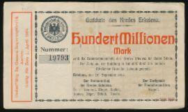 Эркеленц., 100000000 марок (1923 г.)