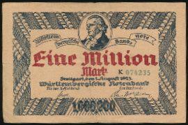 Штутгарт., 1000000 марок (1923 г.)