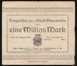 Хощно., 1000000 марок (1923 г.)