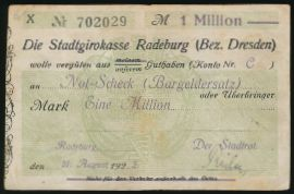 Радебург., 1000000 марок (1923 г.)