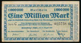 Зоннеберг., 1000000 марок (1923 г.)