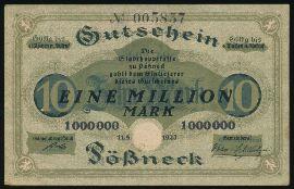 Пёснек., 1000000 марок (1923 г.)