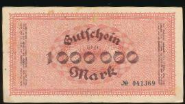 Цвиккау., 1000000 марок (1923 г.)